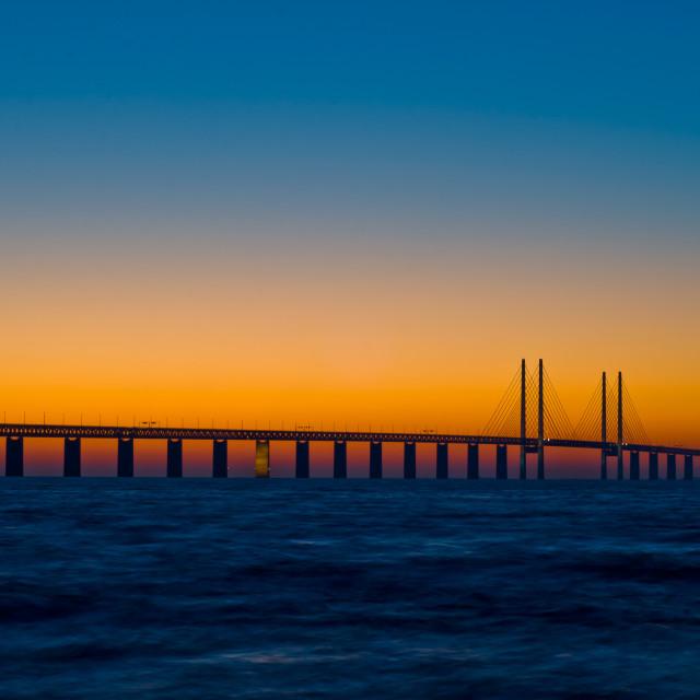 """""""bridge between sweden and denmark"""" stock image"""