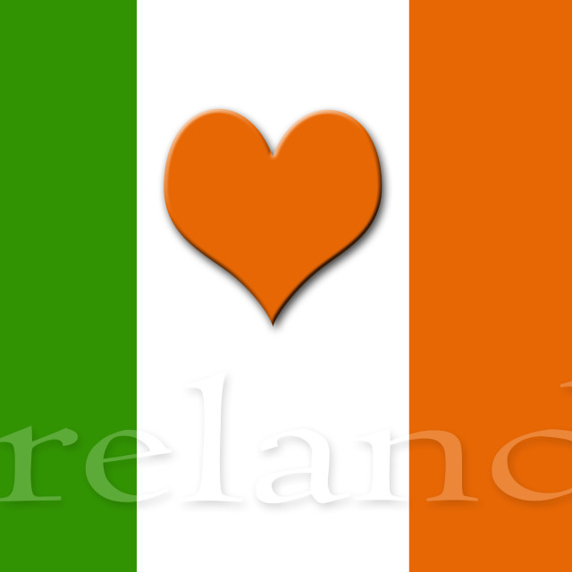 """heart of ireland"" stock image"