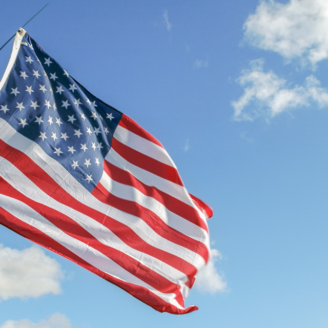 """USA in a breeze"" stock image"