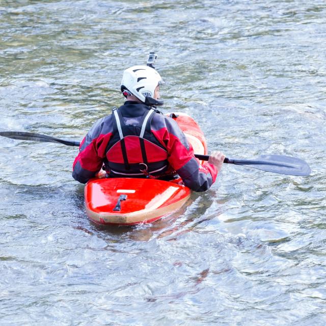 """descent down the river rapids"" stock image"