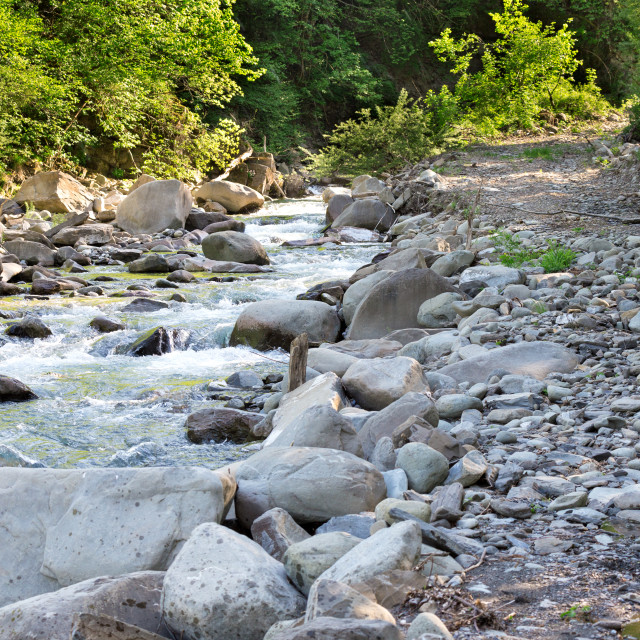 """""""water of a mountain river"""" stock image"""