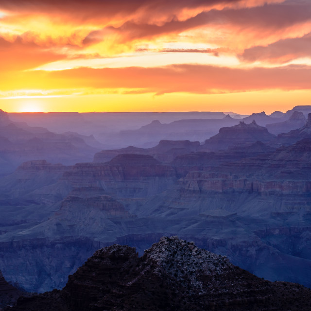 """Sunset - Grand Canyon"" stock image"