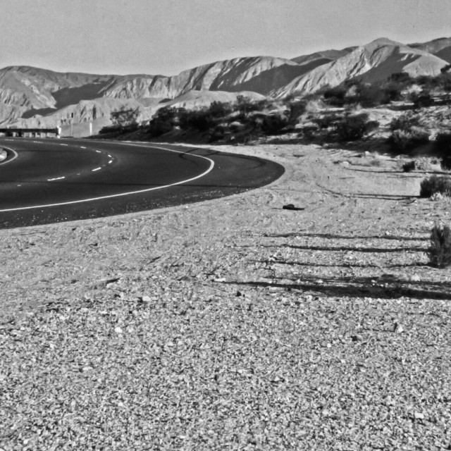 """Palm Springs Exit Road"" stock image"