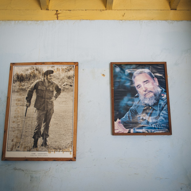 """Pictures of Fidel Castro and Che Guevara"" stock image"