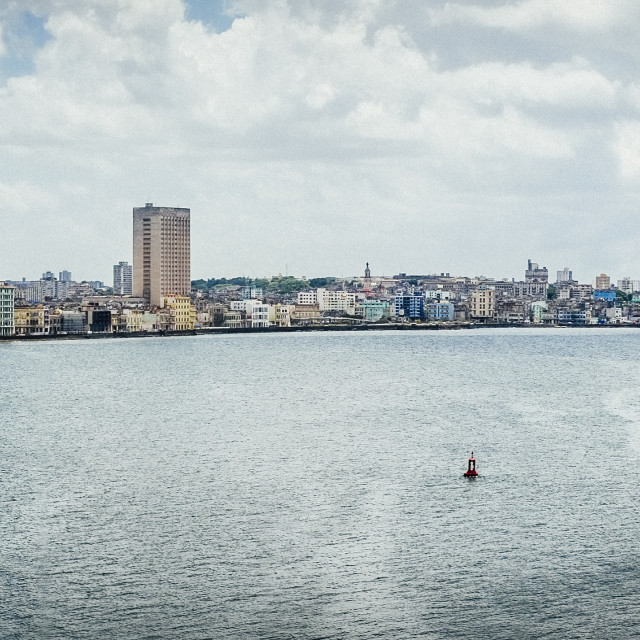 """The Malecon and Havana"" stock image"