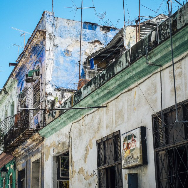"""Colonial buildings in Old Havana Cuba"" stock image"