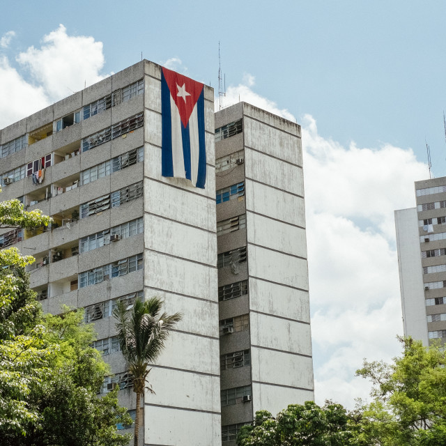 """An apartment block in in Havana Cuba"" stock image"