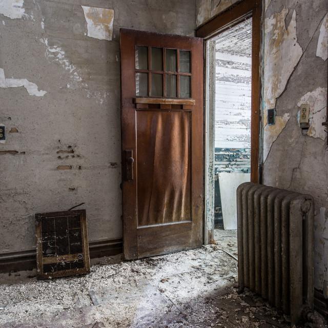 """Weathered Doorway"" stock image"