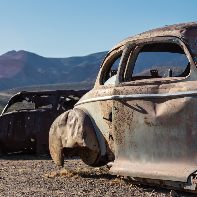 """Rusting in the Desert"" stock image"
