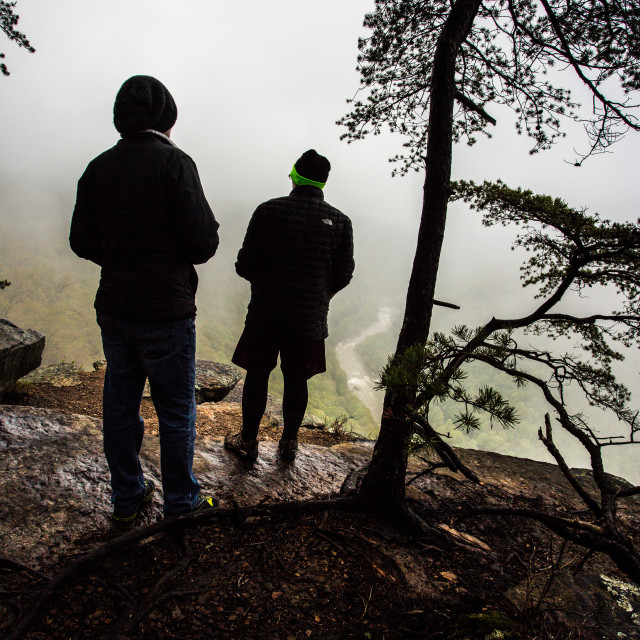 """""""Two People at Overlook"""" stock image"""