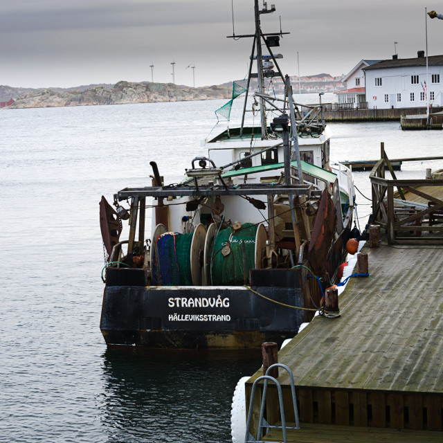 """""""Fishing boat at the dock"""" stock image"""