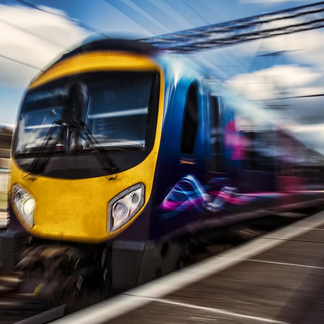 """Speeding Train"" stock image"