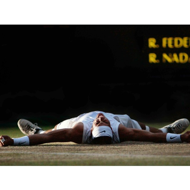 """Rafa Nadal Wimbledon Final 2008"" stock image"