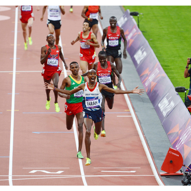 """Mo Farah 5000M Final London Olympics 2012"" stock image"