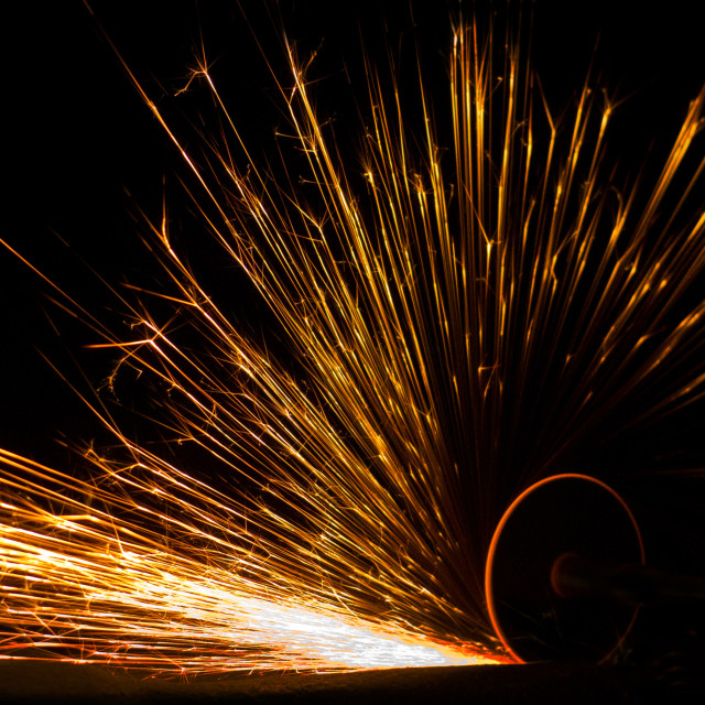 """Sparks from grinding"" stock image"
