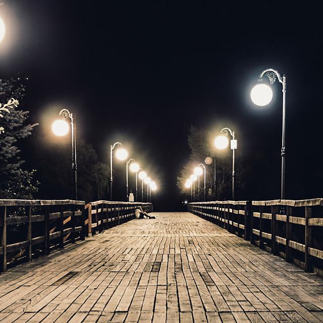 """the dark night"" stock image"