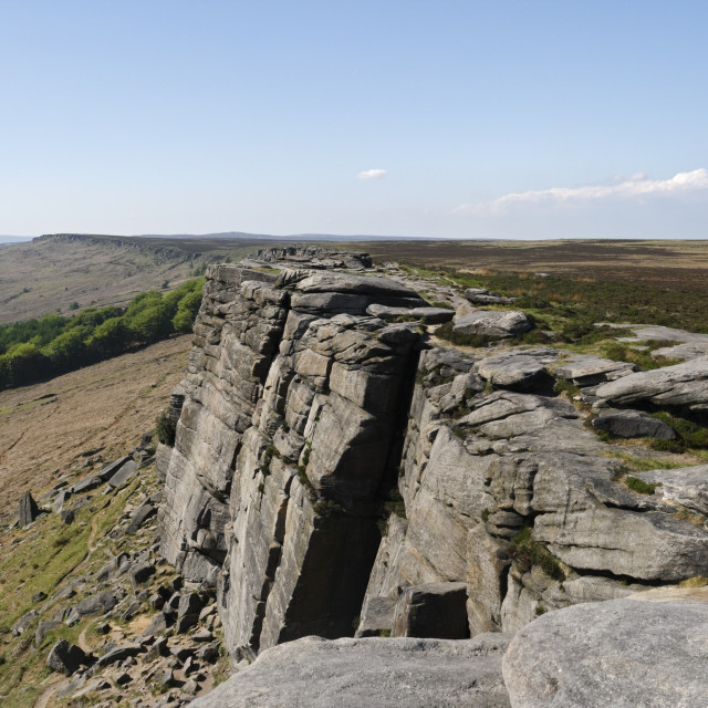 """""""Stanage Edge in the Peak District, Derbyshire England"""" stock image"""