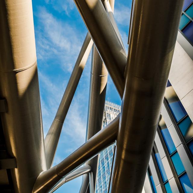 """Under London Railway Bridge"" stock image"