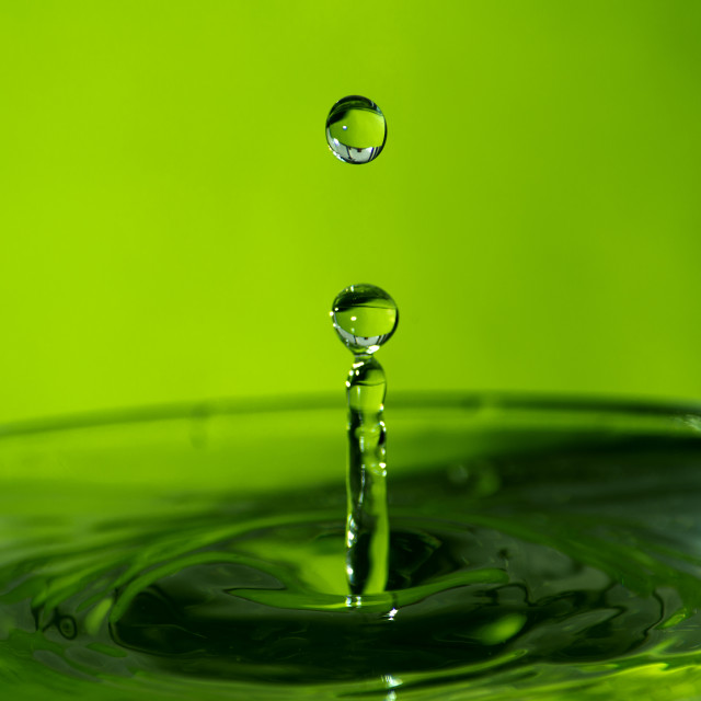 """Water Drop [Green]"" stock image"