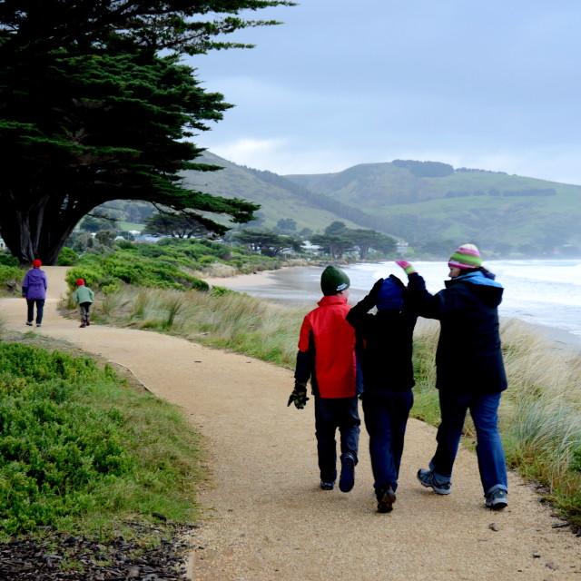 """""""coastal walk"""" stock image"""
