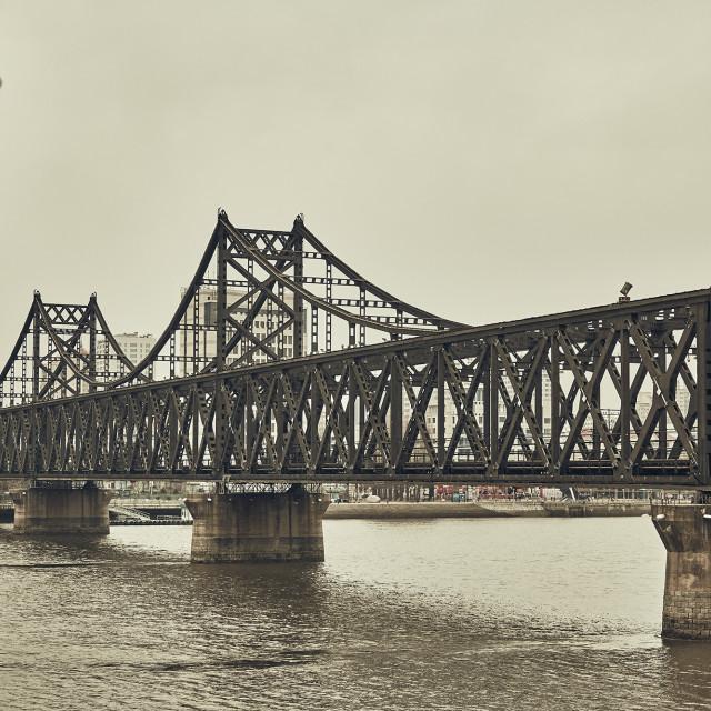 """Sino-Korean Friendship bridge China - North Korea"" stock image"