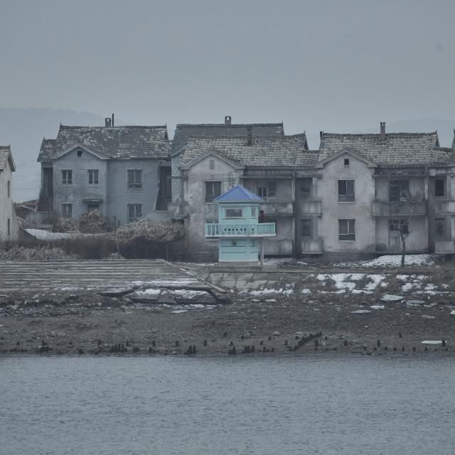 """Sinuiju North Korea and Yalu River"" stock image"