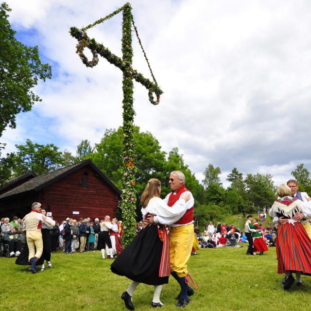 """Midsummer celebration"" stock image"