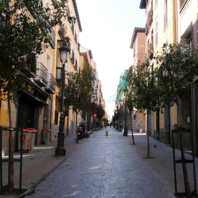 """A street in Madrid"" stock image"