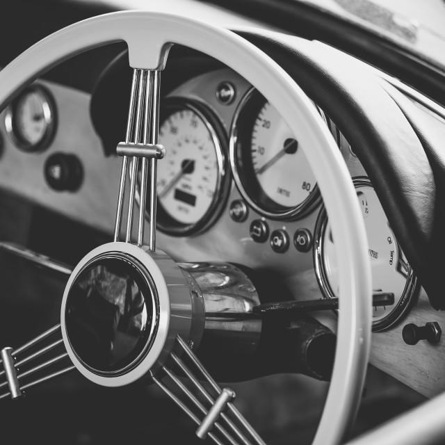 """Classic Porsche Speedster Interior"" stock image"