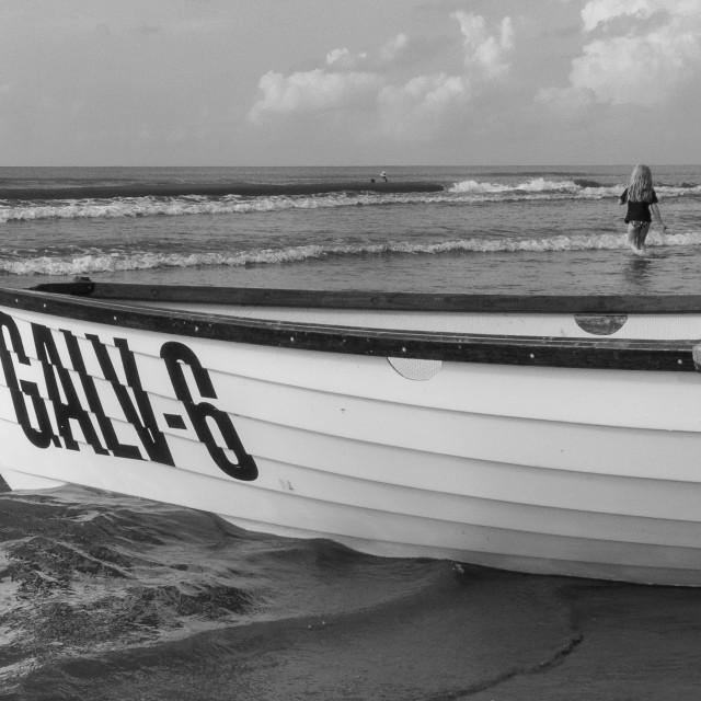 """Seashore in Galveston"" stock image"