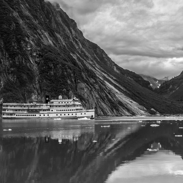 """Tracy Arm Fjord"" stock image"