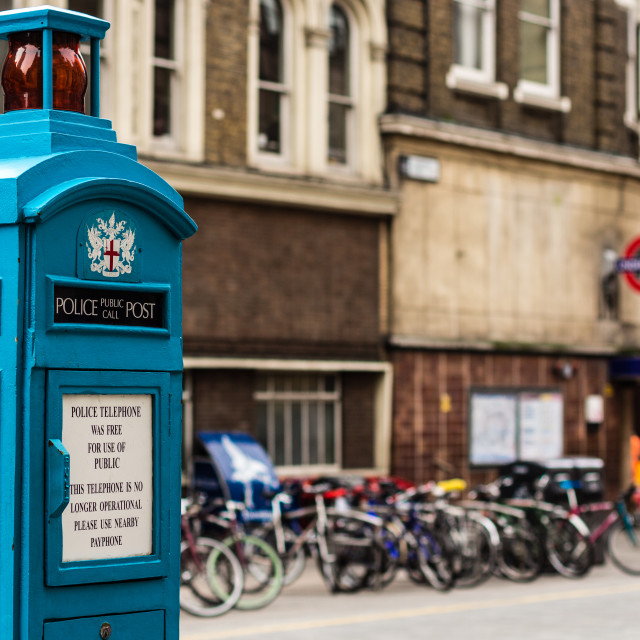 """Police telephone booth"" stock image"