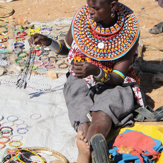 """Samburu Tribeswoman"" stock image"