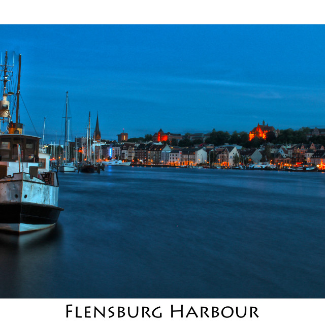 """""""Harbour of Flensburg, Germany"""" stock image"""