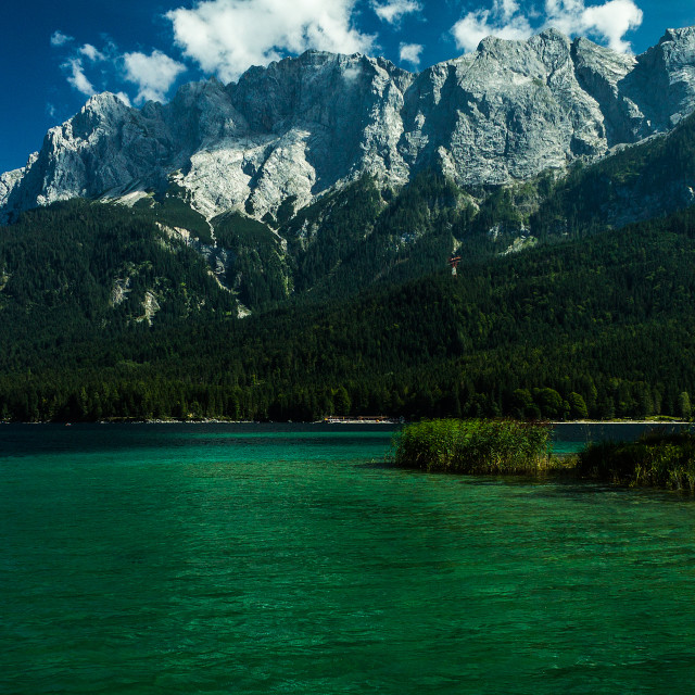 """Eibsee lake at Zugspitze"" stock image"