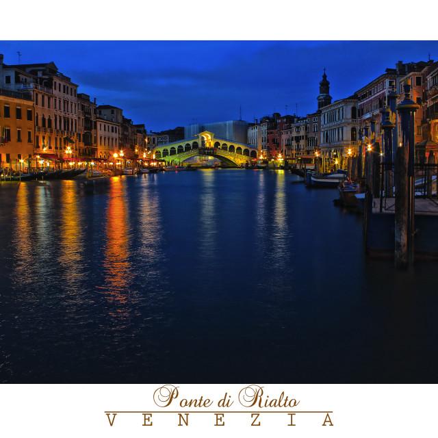 """""""Ponte di Rialto"""" stock image"""