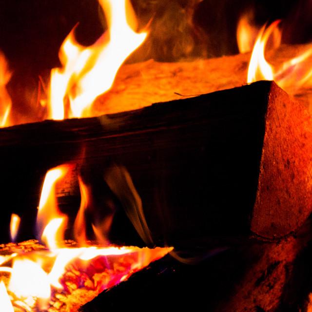 """Loving flames"" stock image"