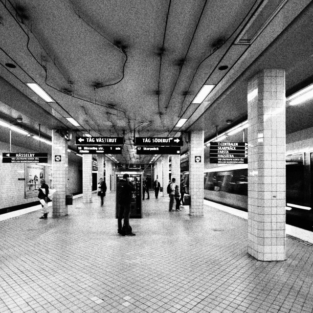 """Stockholm Underground"" stock image"