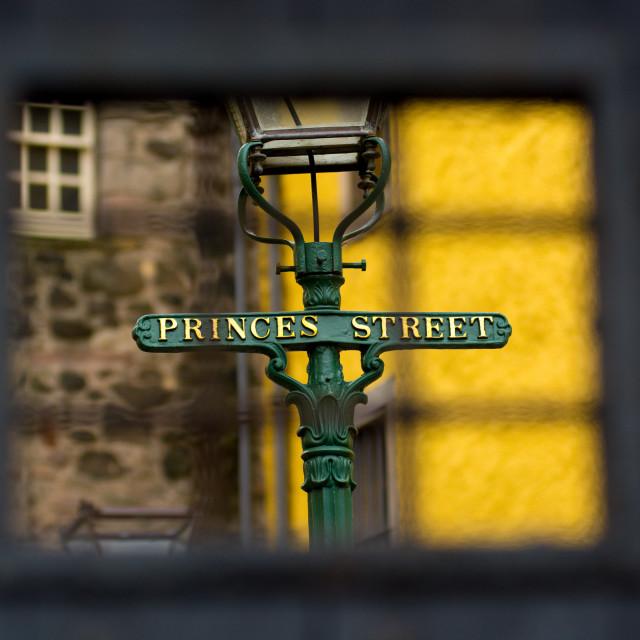 """Princes Street"" stock image"
