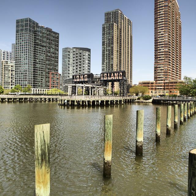 """Gantry Park, Long Island City"" stock image"
