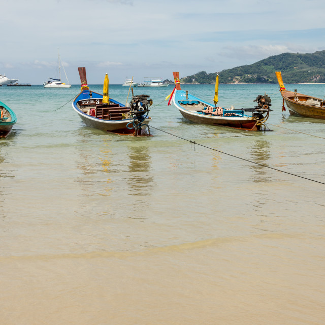 """""""Longtail Boats"""" stock image"""