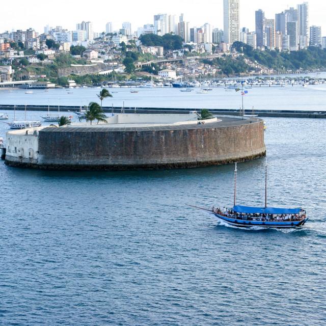 """Salvador Harbor, Brazil"" stock image"