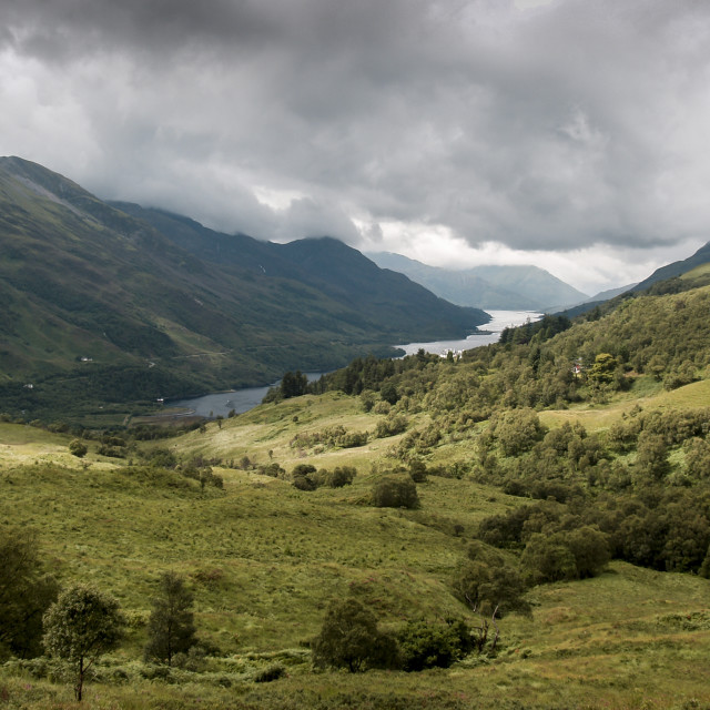 """Landscape view to Kinlochleven, Scotland"" stock image"