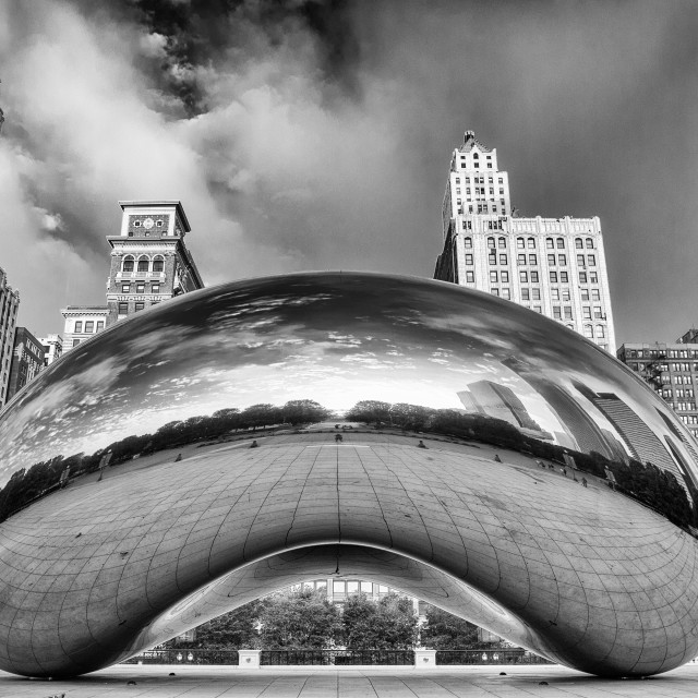 """""""Cloud Gate, Chicago"""" stock image"""