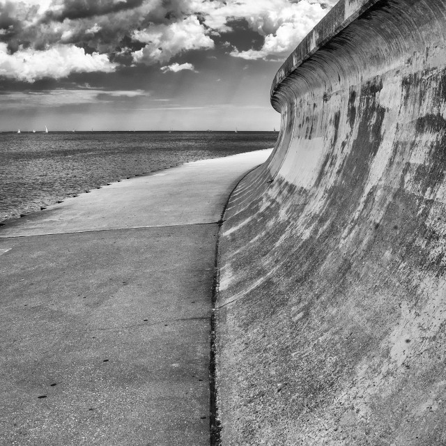 """""""Lakefront Trail, Chicago"""" stock image"""