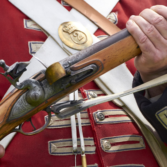 """Brown Bess musket"" stock image"