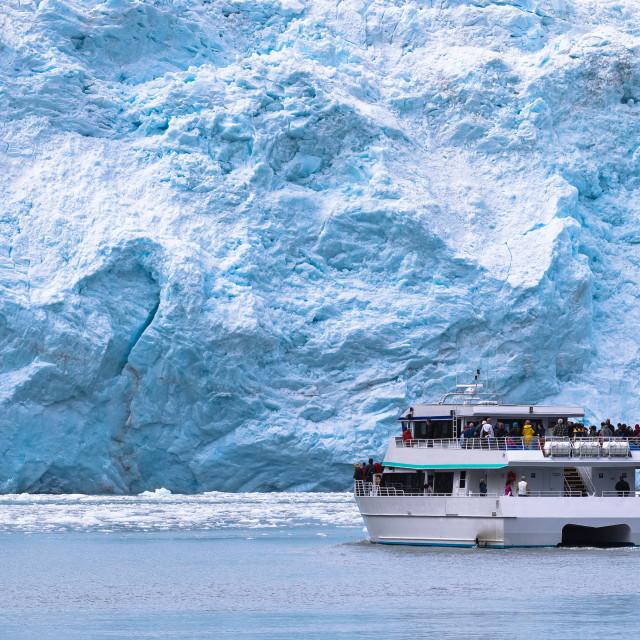 """Glacier view"" stock image"
