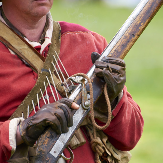 """Matchlock musket"" stock image"