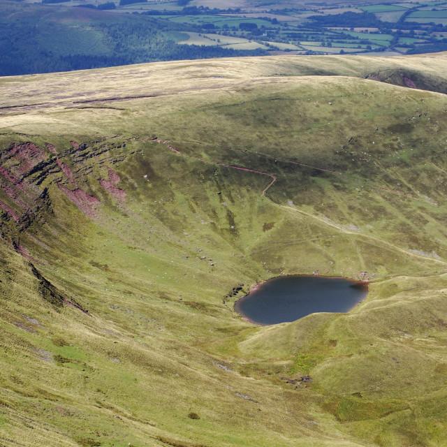 """""""Llyn Cwm Llwch"""" stock image"""