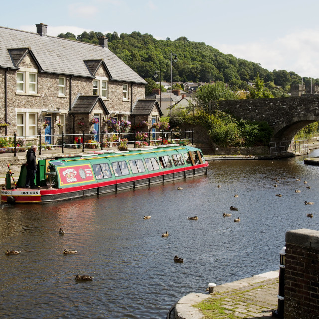 """""""Canal Basin, Brecon"""" stock image"""